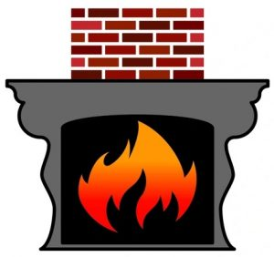 Certified fire place and chimney logo